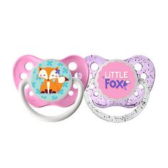 "Ulubulu 0-6 Months 2 Pack Girl Pacifier - Little Fox - ULUBULU - Babies ""R"" Us"
