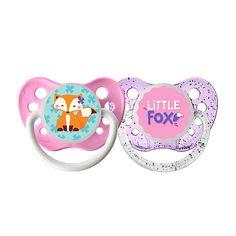 """Ulubulu 0-6 Months 2 Pack Girl Pacifier - Little Fox - ULUBULU - Babies """"R"""" Us"""