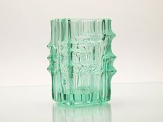 Vintage Bohemian Pressed Glass Vase by Vladislav by BetterLookBack