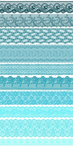 Turquoise Teal Lace Borders by Origins Digital Curio on @creativemarket