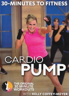 Best workout dvds - 30 minutes to fitness: cardio pump with kelly coffey-meyer Best Workout Dvds, Abs Workout Video, Gym Video, Abs Workout Routines, Fun Workouts, Beginner Workouts, Week Workout, Toning Workouts, Workout Videos For Women