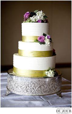 three tier wedding cake at lansdowne resort fall wedding