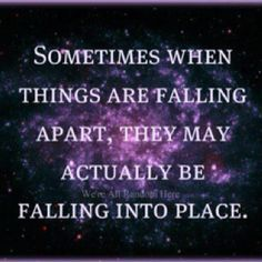 Falling in place?