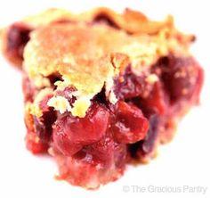 Clean Eating Cherry Pie Recipe ~ https://www.thegraciouspantry.com