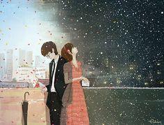 생각  생각은 어디에서 오는지 난 선택할 수 없어 그대를 생각하고   어떻게 해야 멈추어 지는지 또 그대를 생각하고 있는  나를 생각하죠   아직도 그대는 내게 사랑과 이별을 같이 느끼게 하고 내 좁은 가슴엔 그리움과 체념도 서로에 묶여있네요   어디에 살고 있나요 그곳에선 눈이 오면 꽃이 피어나고 꽃은 높게 자라 별이 되어 빛나나요   이렇게도 만나지 못하는 건 난 겨울을 기다리고 그댄 그 겨울의 끝에서 봄을 기다리고 있어서겠죠   오늘도 시간은 쉬지 않고 생각뿐인 나는 머물러 피어남과 동시에 시들어가고 있네요