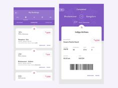 My Bookings for a Travel App by Swapna Ranjita Nayak #Design Popular #Dribbble #shots