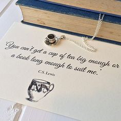 CS Lewis Teacup Necklace - I recently got bought this as a gift. Perfect length and a lovely necklace. Love it.