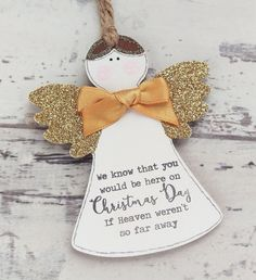 Christmas Decorations-Christmas Angel by TaylorsCreationsGift