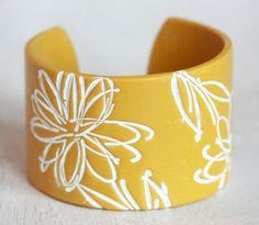 Yellow Cuff Bracelet