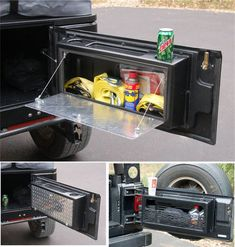 Jeep, I like the functional use of space Jeep Jk, Jeep Gear, Jeep Truck, Jeep Wrangler Accessories, Jeep Accessories, Accessoires Camping Car, Kombi Motorhome, Jeep Camping, Jeep Wrangler Camping