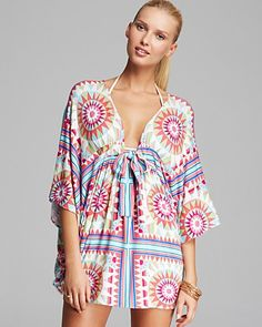 Mara Hoffman Modal Cover Up Poncho