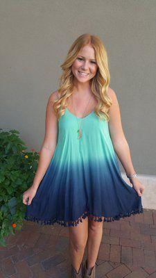 Dip Dye Minty Dress | ella bleu