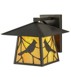 """12""""W Stillwater Song Bird Solid Mount Outdoor Wall Sconce"""