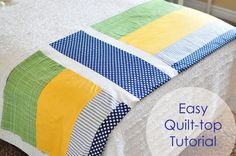 Easy quilt top tutorial - Simple Simon and Co.