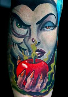 Snow White Witch Tattoo (Not one I want, but this is epic)