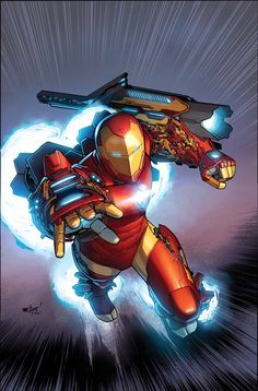 The Invincible Iron Man - new design showing up this fall after the Secret Wars 2015 ultra-mega-huge-event that seems to happen yearly.