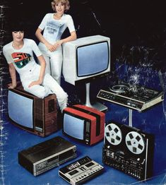 1970s television and hi fi equipment. _ Fashion and Lifestyle photos