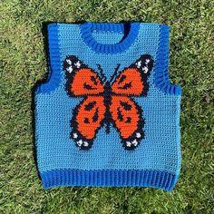 Crochet Art, Crochet Patterns Amigurumi, Cute Crochet, Crochet For Kids, Diy Crochet Projects, Crochet Crafts, Hand Embroidery Patterns Flowers, Crochet Butterfly, Crochet Fashion