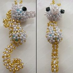 beaded 3D seahorse . . . maybe i can get my beading friend to make it... can see it with a crochet shell choker