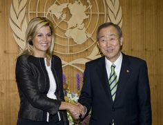 New York, 21 september 2009: Prinses Máxima en Secretaris-Generaal van de Verenigde Naties, Ban Ki-moon - Het Koninklijk Huis
