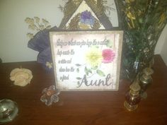 My Aunt Ceramic Tile Wall Hanging by SapphireCustomPhotos on Etsy, $16.00