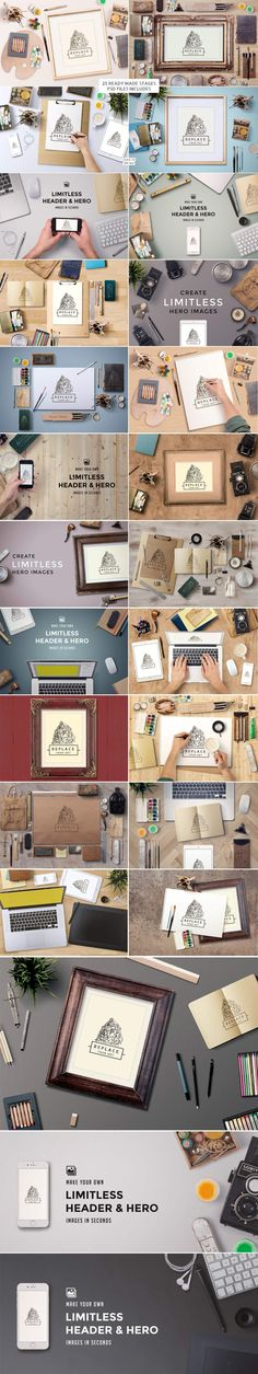 8 Quality Stationary + Branding Mock Up Kits