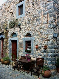 Mesta, Chios island, Greece
