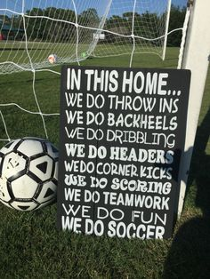 Soccer Sign Sport Sign In This Home Soccer by CountryClutterHome Soccer Drills, Soccer Coaching, Soccer Training, Soccer Cleats, Soccer Stars, Football Soccer, Soccer Moms, Girls Soccer, Nike Soccer