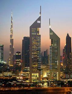 Jumeirah Emirates Towers in an area known as DIFC, Dubai International Financial Center, Burj Khalifa, Dubai