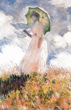 Claude Monet - Sketch of a Figure in the Open Air Woman with a Parasol Facing Left, 1886  at Musée d'Orsay Paris France