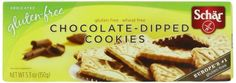 Schar Cookies, Chocolate Dipped, 5.3 Ounce - http://bestchocolateshop.com/schar-cookies-chocolate-dipped-5-3-ounce/