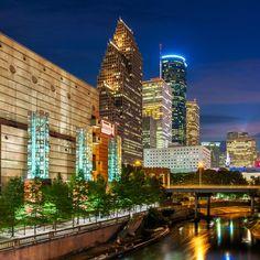 Buffalo Bayou, Houston Skyline, Texas, America by Joe Daniel Price on Run Dmc, Biggie Smalls, Tupac Shakur, Snoop Dogg, Camden, Houston Skyline, Houston City, Discovery Green, Hip Hop