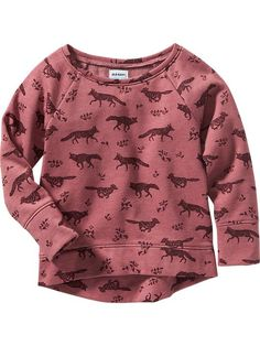 Patterned Fleece-Lined Pullover for Baby Product Image