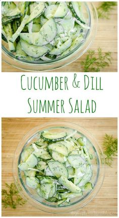 Cucumber  Dill Summer Salad A great 21 Day fix recipe that is an alternative to pasta salad!