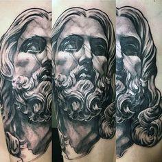 3d Jesus Tattoo On Men On Forearm