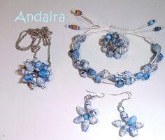 "Conjunto  ""Joyas de papel""/paper beads"