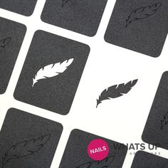 Whats Up Nails - Feather Stickers & Stencils
