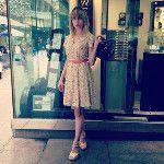 Bonjour Tristesse in @orla_kiely Riviera dress - via @FashionSheSays