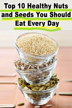 Top 10 Healthy Nuts and Seeds You Should Eat Every Day - Healthy Living Healthy Eating Tips, Healthy Snacks, Clean Eating, Healthy Recipes, Eat Healthy, Diet Recipes, Recipies, Healthy Nuts And Seeds, Lowest Carb Bread Recipe