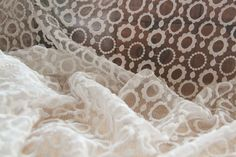 Ivory Cream White Lace Fabric Vintage Style by designourlife, $9.99