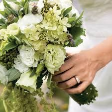 Sage green bridal bouquet.