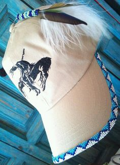 Hat that I beaded...I sale my work!!!