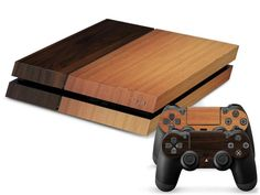 Buy DARK & LIGHT WOODEN DESIGN Sony PS4 Console Skin Kit at Pica Collection…