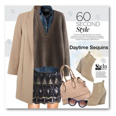 """60 Second Style: Daytime Sequins"" by svijetlana ❤ liked on Polyvore featuring Miss Selfridge, LE3NO, Thierry Lasry, Essie, Sequins and polyvoreeditorial"