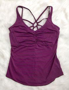 PrAna Dreaming Striped Strappy Dream Catcher Yoga Workout Tank Top  | eBay