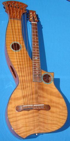 """Mermer Guitars, Harp Guitar """"Thor's Hammer"""""""