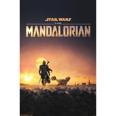 Star Wars The Mandalorian, Maxi Poster - Dusk Affiche The Shining, Mandalorian Poster, Man Of Mystery, Star Wars Bounty Hunter, Keys Art, Chewbacca, Clone Wars, Custom Posters, Wall Art Prints