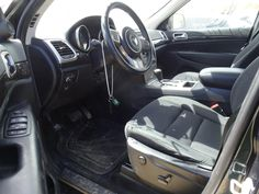 SEAT FRONT Brown Trim, Black And Brown, Jeep Parts For Sale, 2011 Jeep Grand Cherokee, Used Parts, New England, Black Leather