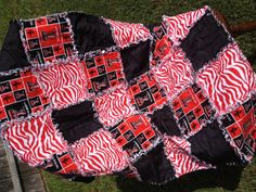 Handmade Texas Tech Baby  Rag Quilt 29 x 41 1/2 by craftymommasx2, $60.00