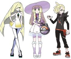 Lusamine, Gladion, and Lillie
